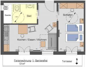 Grundriss Ferienwohnung Setzberg