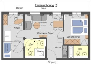Grundriss Ferienwohnungen Fockenstein