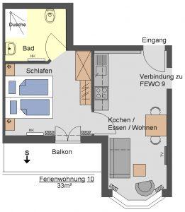 Grundriss Ferienwohnung Wallberg 2.OG